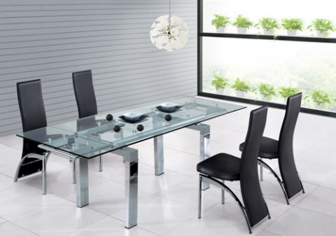 Modern dining furniture designs glass tables designs ideas an interior design - Glazen tafel gesmeed ijzer en stoelen ...