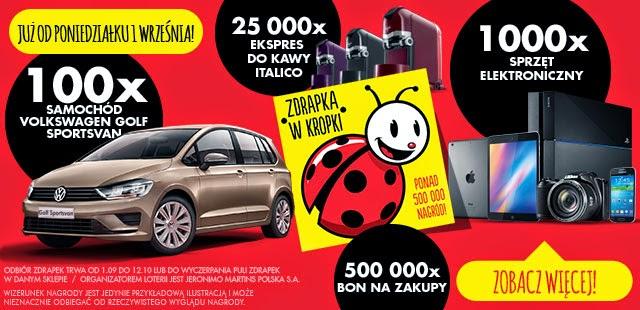 Zdrapka w kropki - ponad 500 000 nagród Biedronka