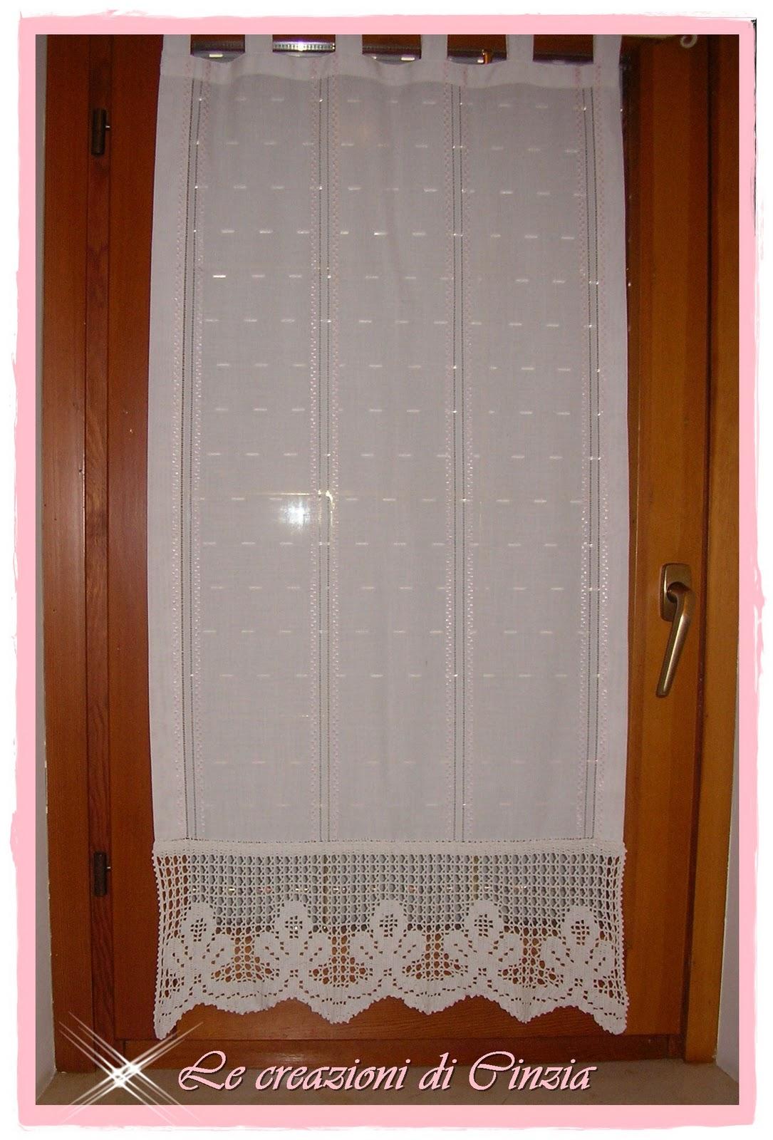 Le creazioni di cinzia tende in cucina - Tende per finestra del bagno ...