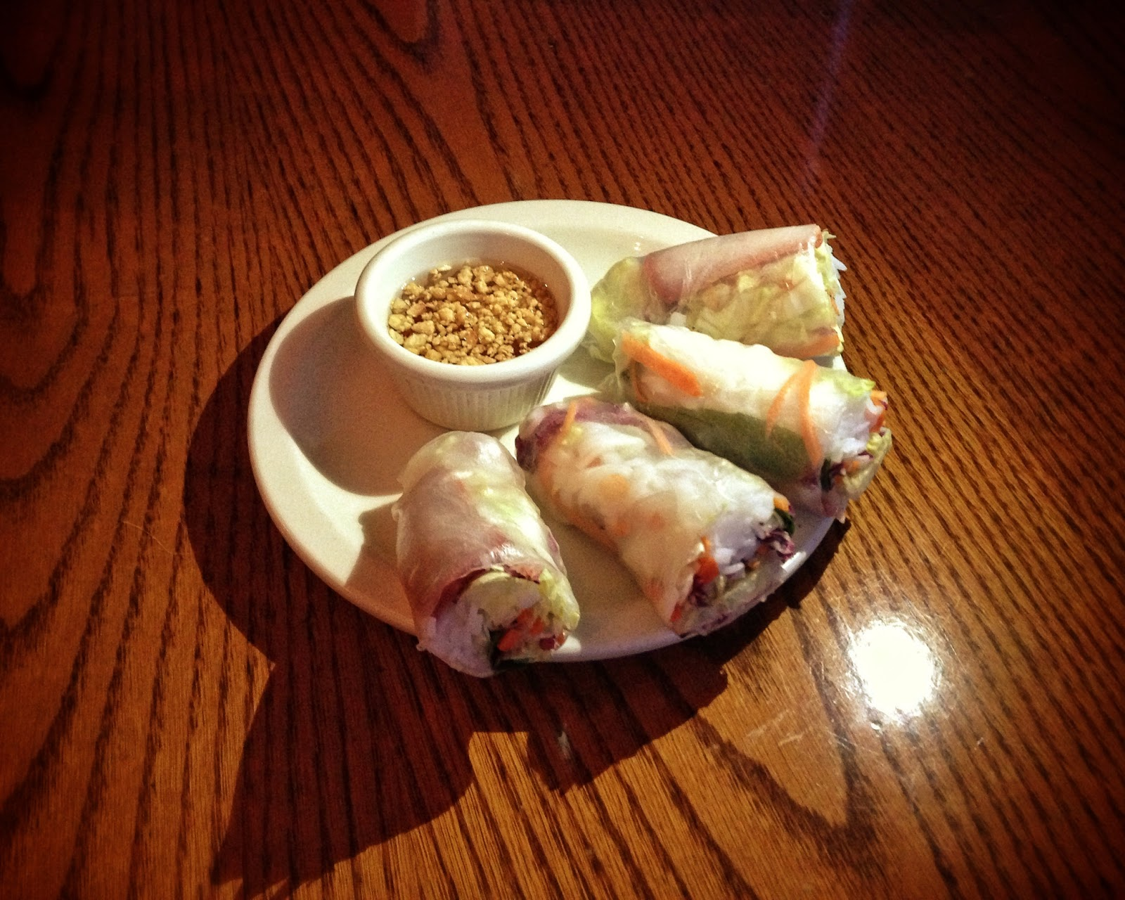 Pork spring rolls at Royal Thai restaurant in Nashville Tennessee
