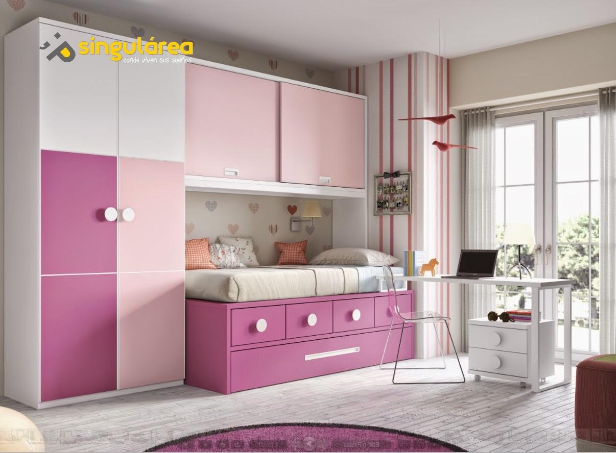Dormitorio juvenil sin armario 845 for Dormitorios juveniles baratos sin armario