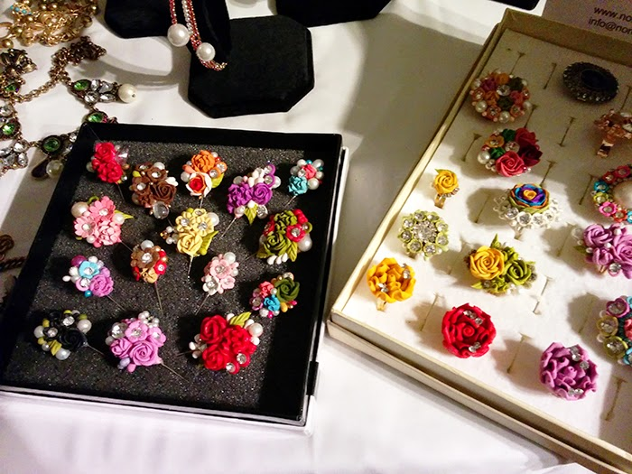 Bloggers Love Fashion Week #BLFW Hub Jewellery Rings Clips Flowers Rose