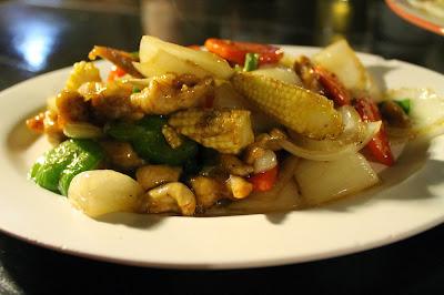 bocconcini di pollo thai con anacardi e verdurine