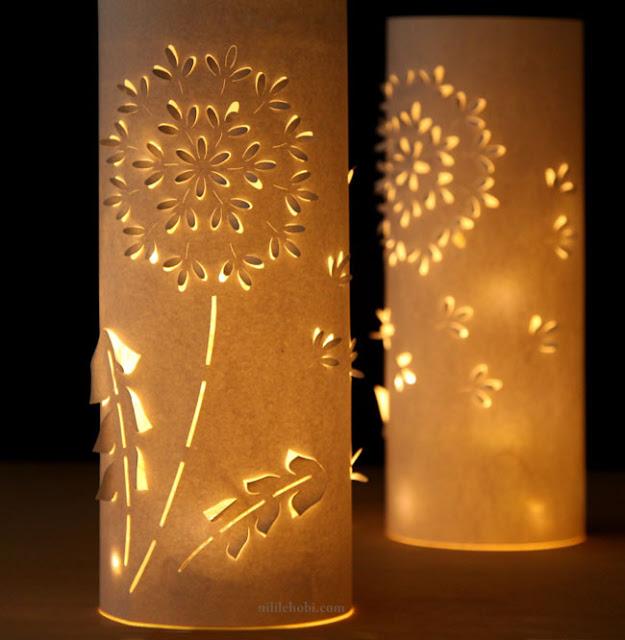 Kağıttan Romantik Işık Yapımı