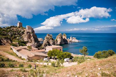 Reserva natural Zingaro en Sicilia, Italia. - Paisajes