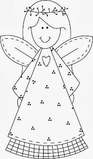 desenho de anjinha para pintar