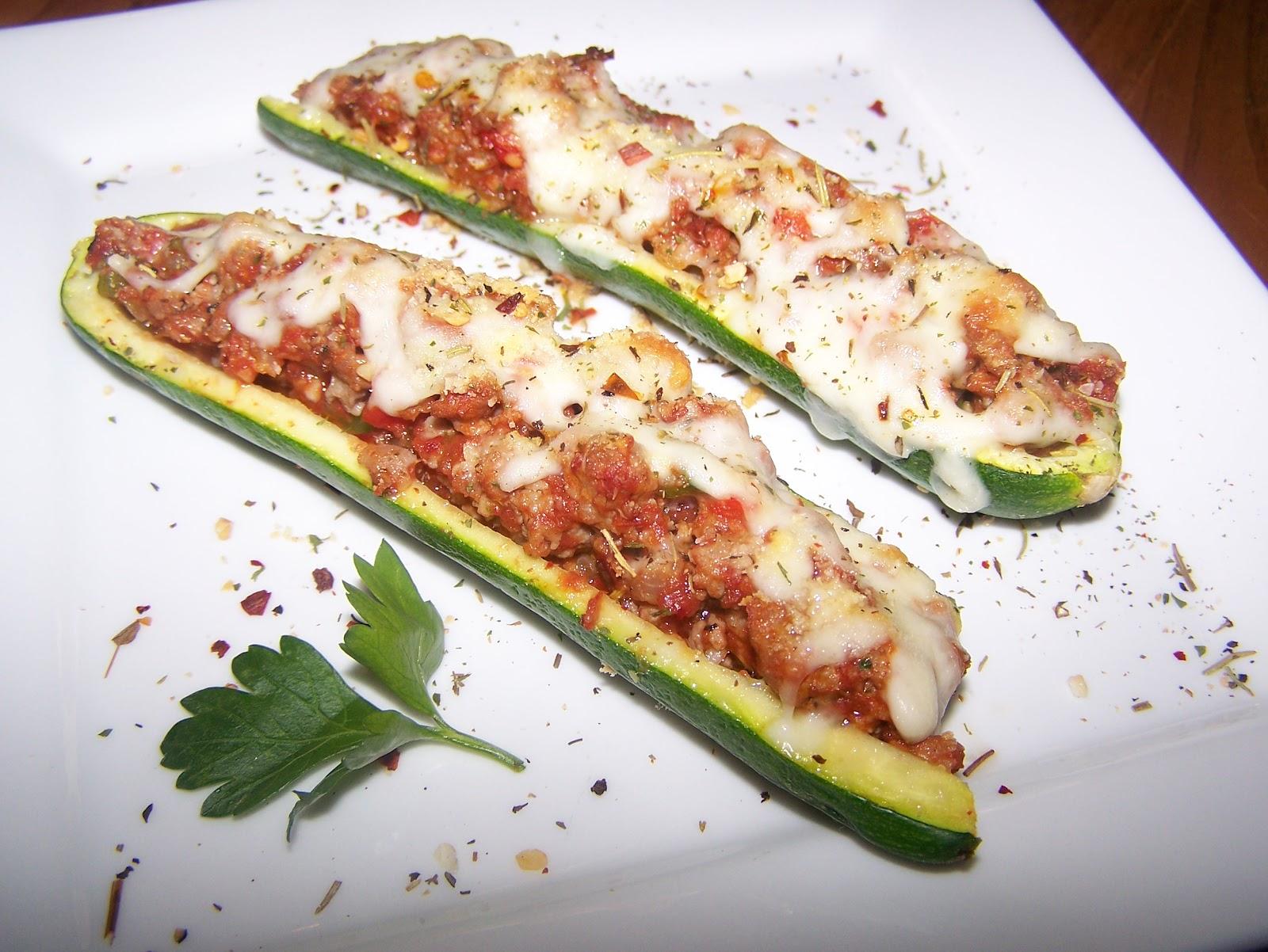 TheKitchenCookie: Stuffed Zucchini Boats