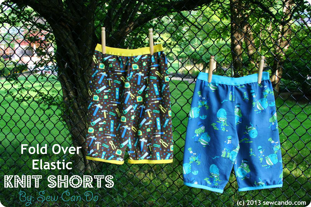 Knit Shorts Pattern : Sew Can Do: Fold Over Elastic Knit Shorts Without A Pattern