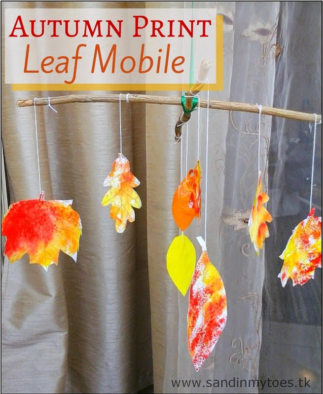 Autumn Print Leaf Mobile or Hanging