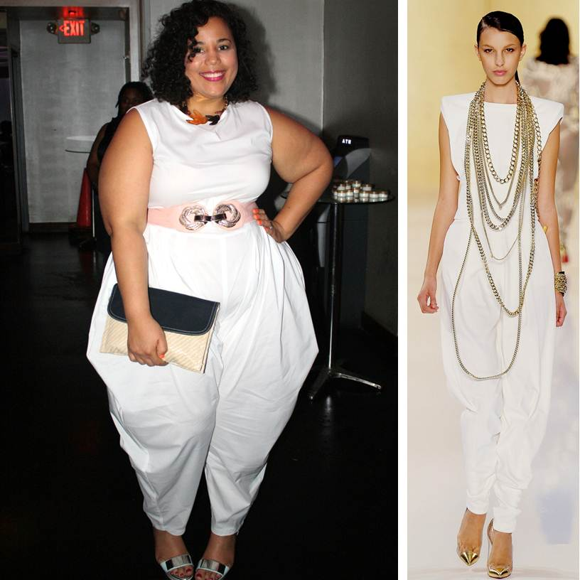 White jumpsuit, JIBRI, plus size fashion