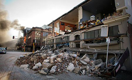 Earthquake Christchurch New Zealand Map. Earthquake+in+new+zealand+