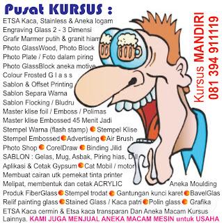 Sablon : Gelas, Kaos, PIN, Nama dada, Payung, HP, Ballpoint, Kalender ...