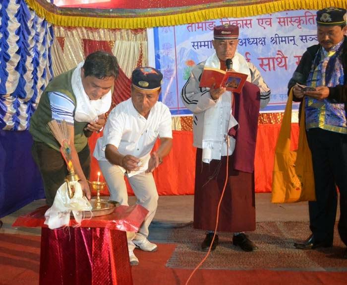 Tamang Development Board president Sanjay Moktan in mungpoo