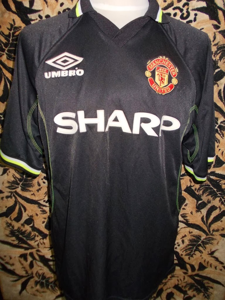 MANCHESTER UNITED THIRD JERSEY 98-99 SIZE XL-PRICE RM 150