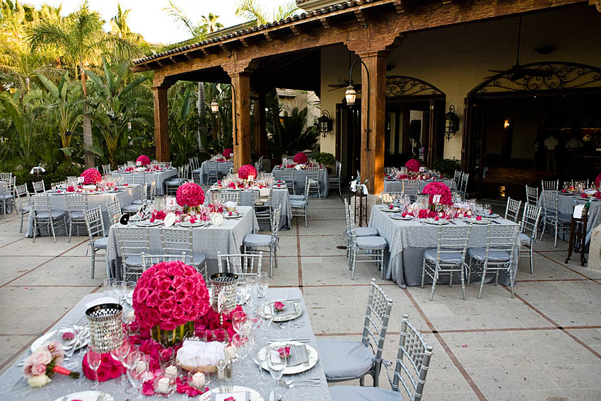Wedding Ideas: Bright Pink and Gray Wedding!