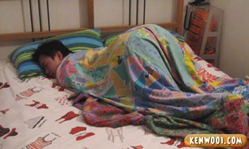 funny sleeping position