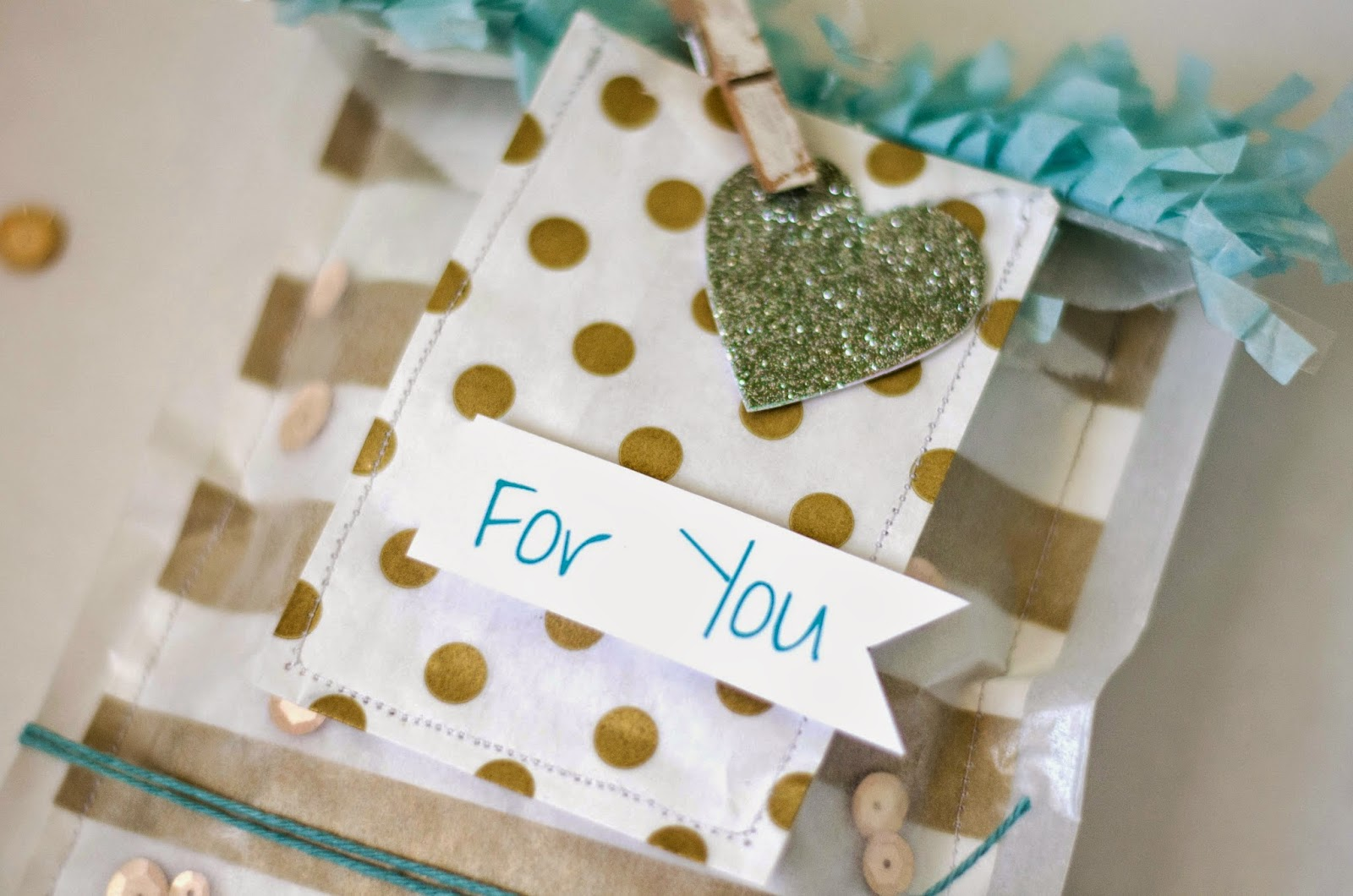 Fawn: Gold and Teal Party Favors