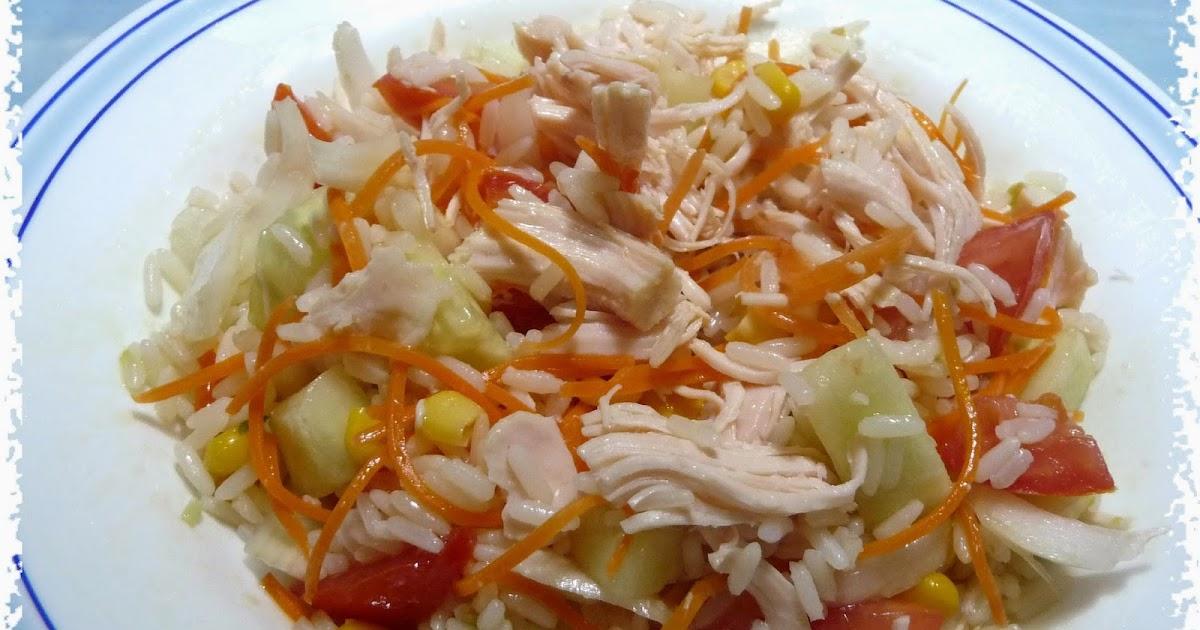 Recetas light adelgazaconsusi ensalada de arroz con pollo - Ensalada de arroz light ...