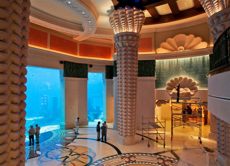 Restorant dubai hotels aquarium for Big hotel in dubai