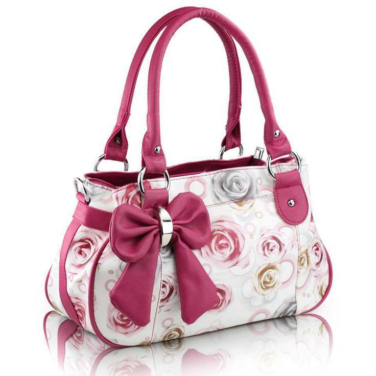Stylish Flower Pattern Handbag