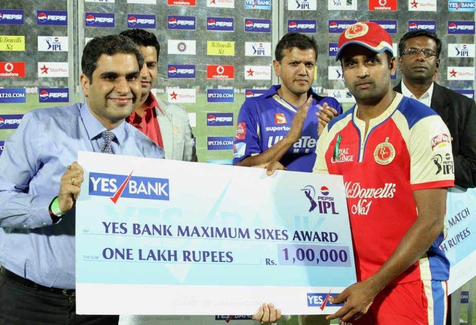 Vinay-Kumar-maximum-sixes-RR-vs-RCB-IPL-2013