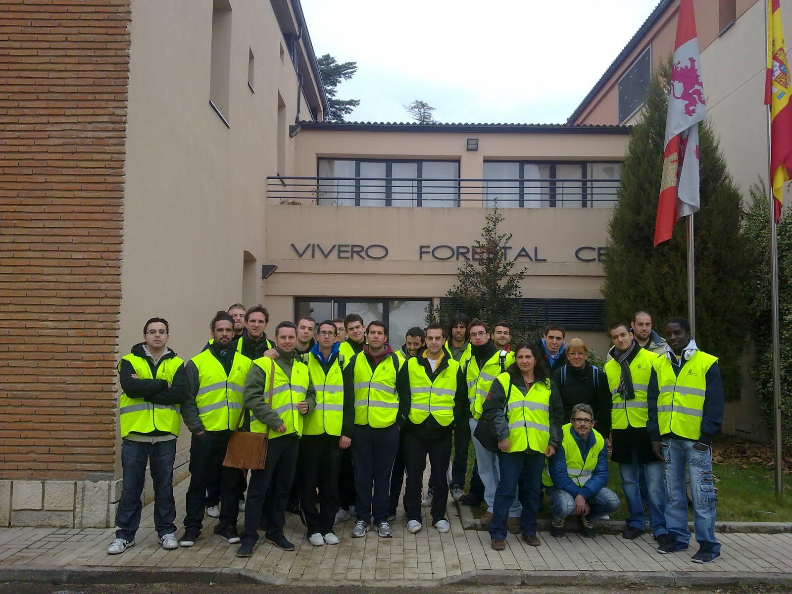 Visita al vivero central forestal centro integrado de f for Viveros valladolid