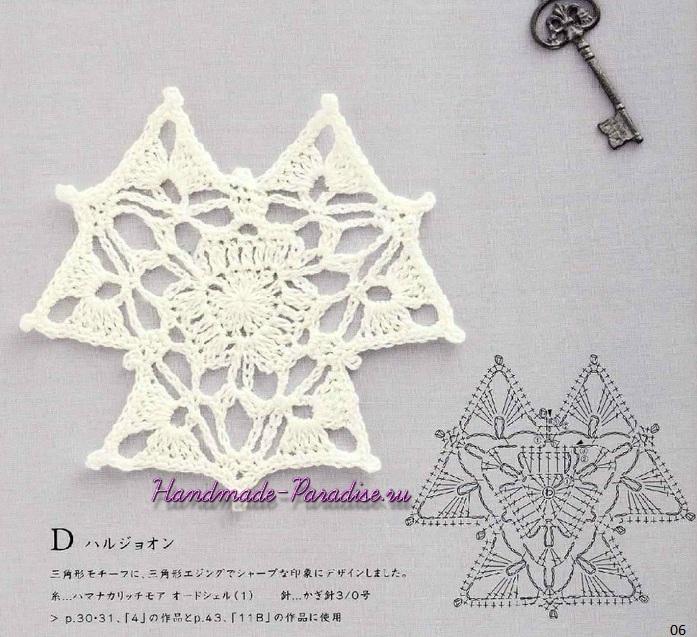 Декоративное вязание крючком. Японский журнал