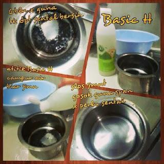 cuci pinggan mangkuk ,kuali tanpa perlu menyental