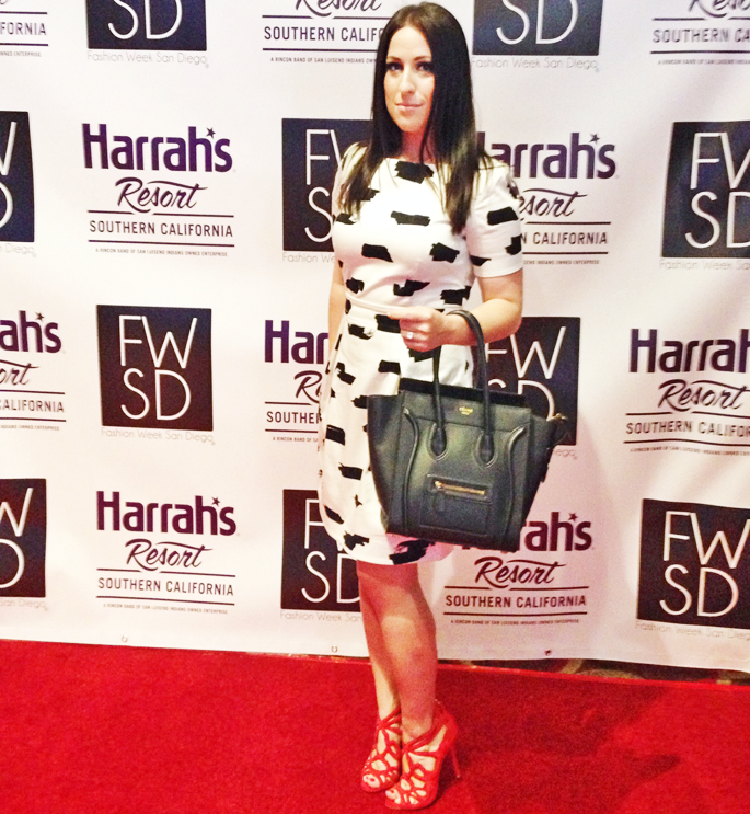 fwsd-amber-king-blogger-fashion-week-san-diego-spring-2014-preview-event-celine-bag-red-carpet-french-connection-black-and-white-dress-zara-red-heels