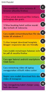 Cara merubah tampilan widget popular posts versi evo magz template