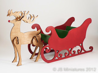 1/12th Rudolph & Sleigh painted kit