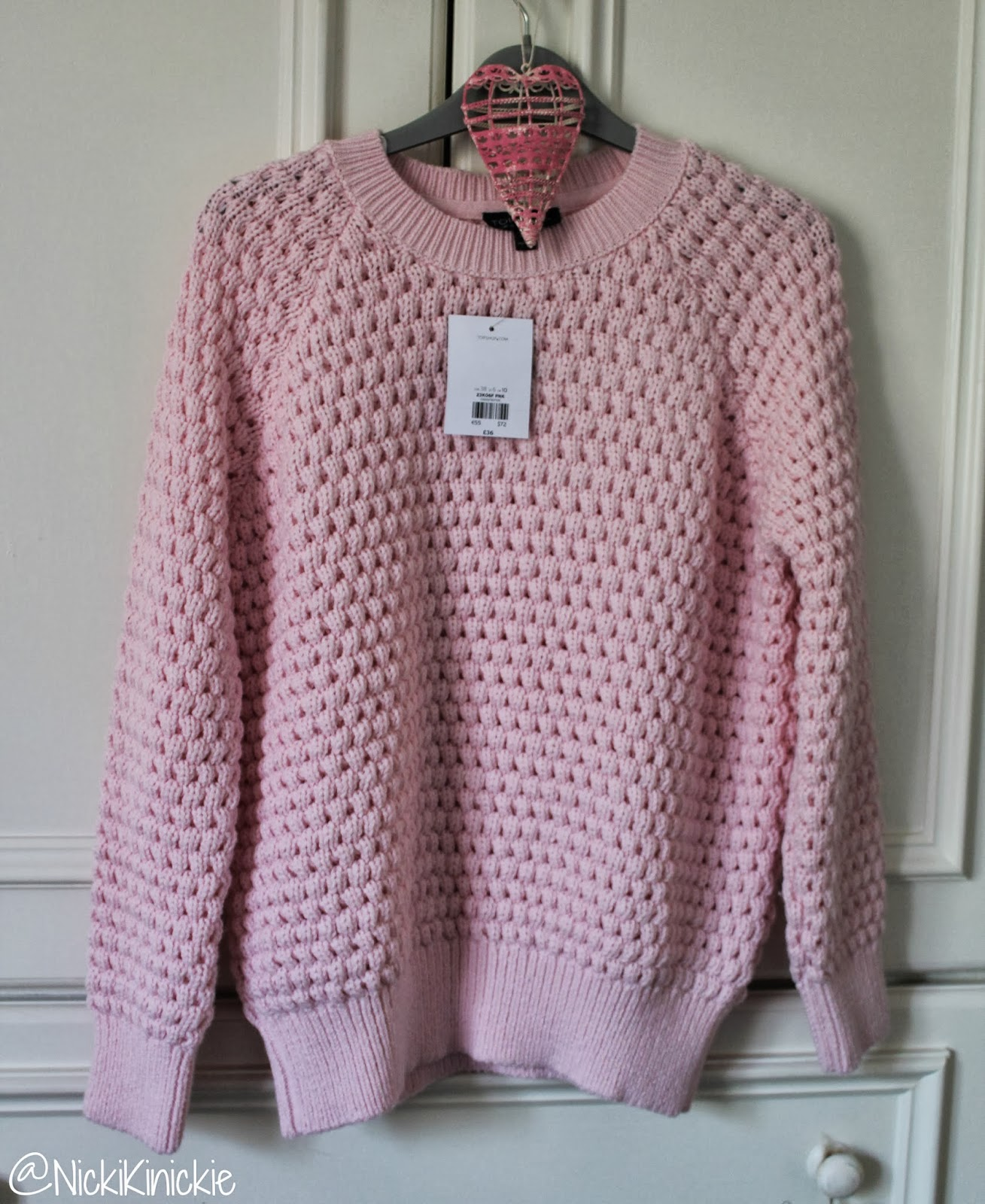 Topshop, Chunky Knit, Pastel, Jumper