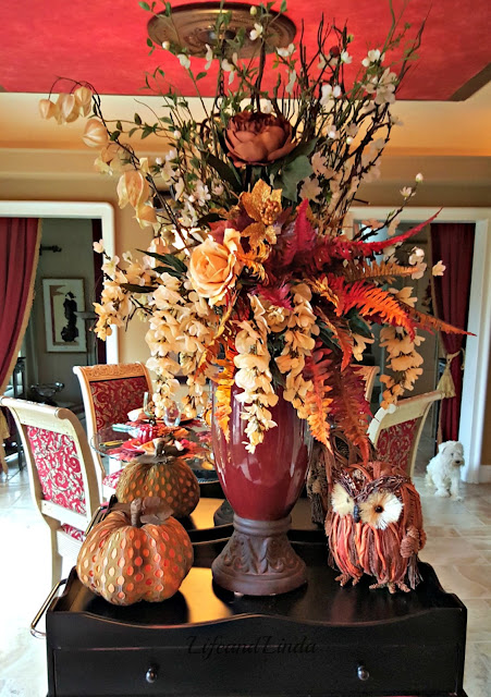 beautiful fall floral display