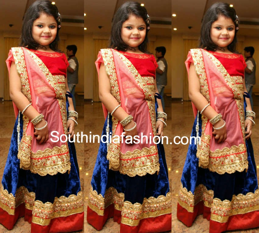little girls in half sarees