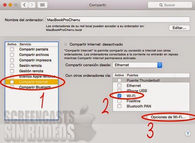 como crear red wifi mac