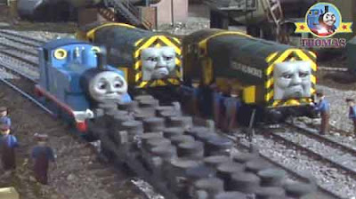 Heroically racing to the rescue Thomas the tank engine friends Diesel Iron Arry and Iron Bert trains