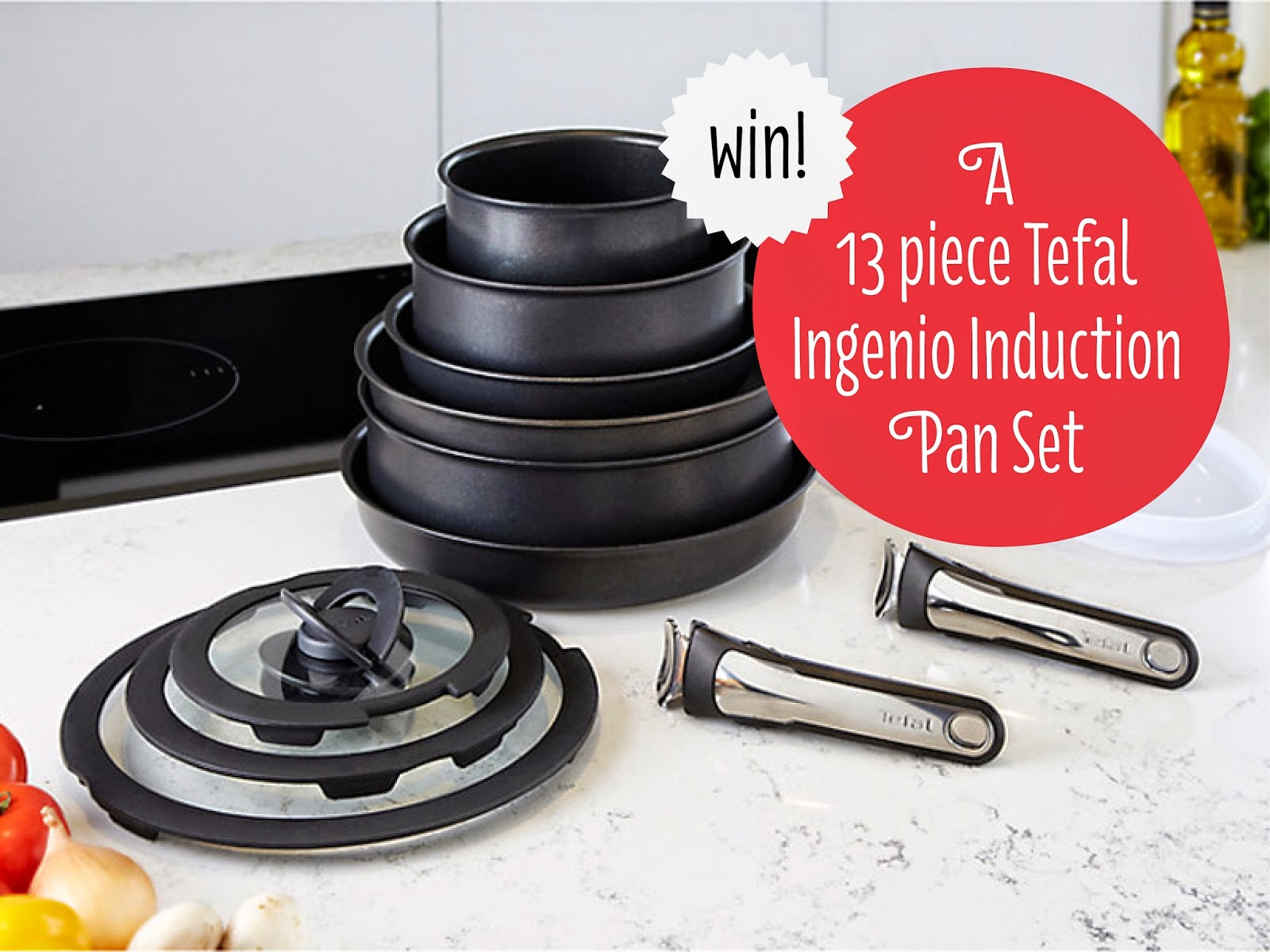 competition win a set of tefal ingenio induction pans. Black Bedroom Furniture Sets. Home Design Ideas