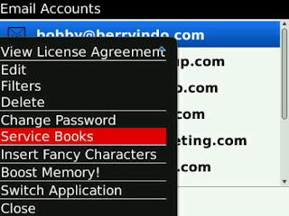 Cara Mengirimkan Service Book di BlackBerry