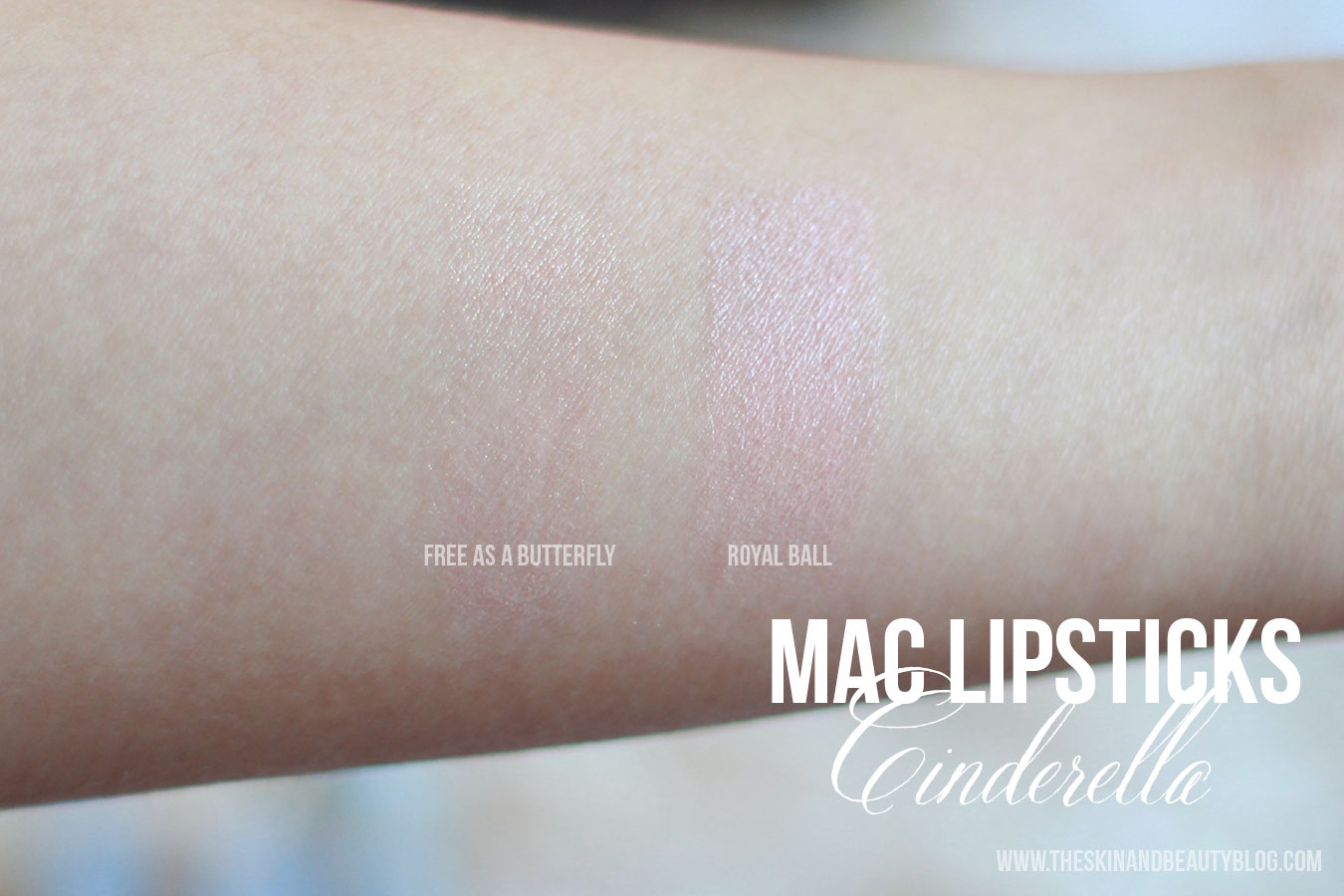 MAC Free as a Butterfly, Royal Ball Lipstick Swatches