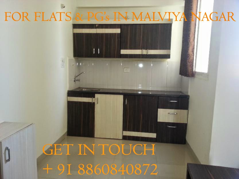 1 bhk flats in malviya nagar for rent
