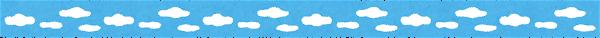 空のライン素材(青空)
