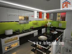 Tủ bếp đẹp nhà anh Phương quận 7