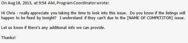 client responds to FYI response