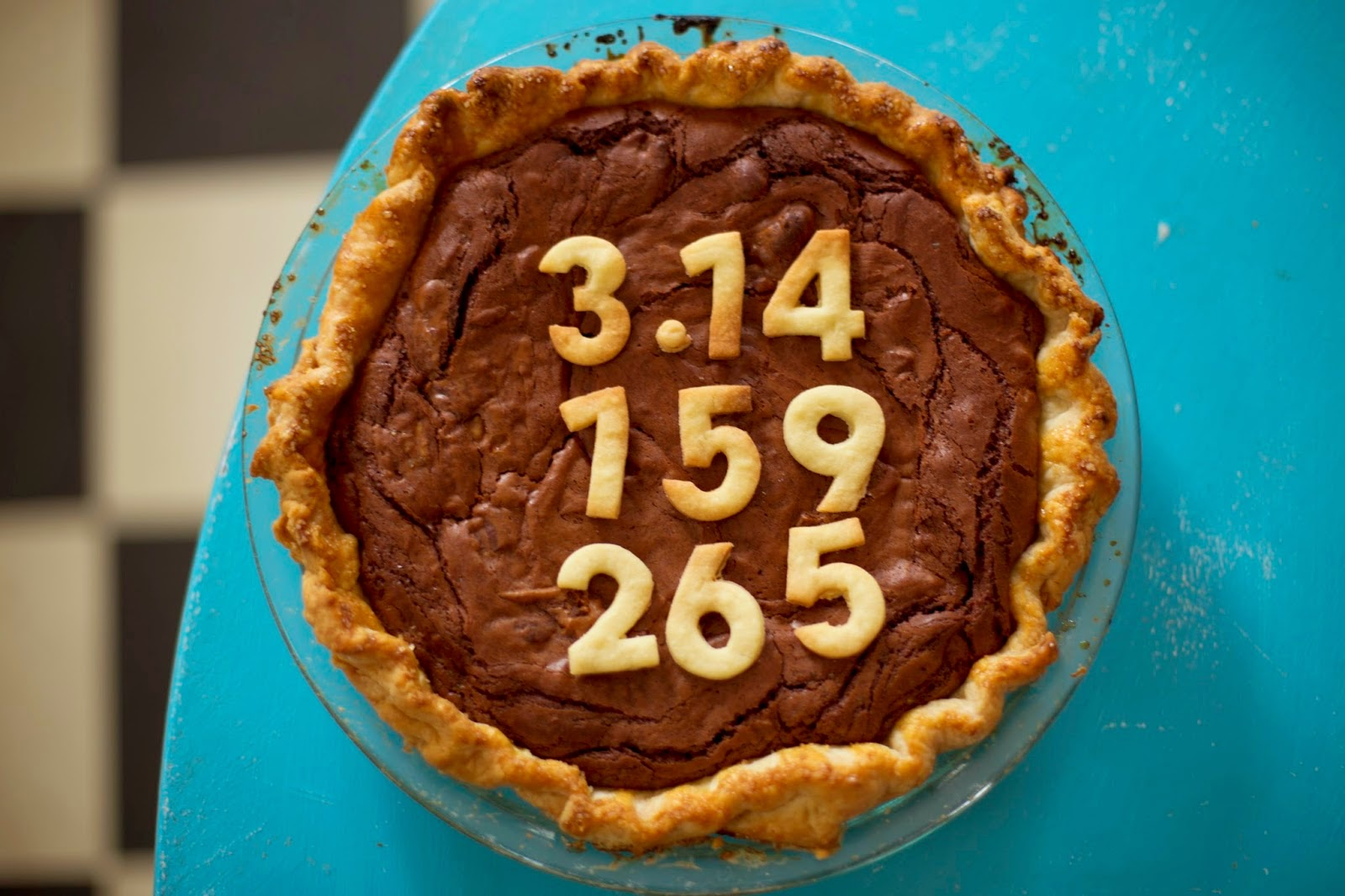 Chocolate Chess Pie with 3.14 Pi(e) Day pi numbers