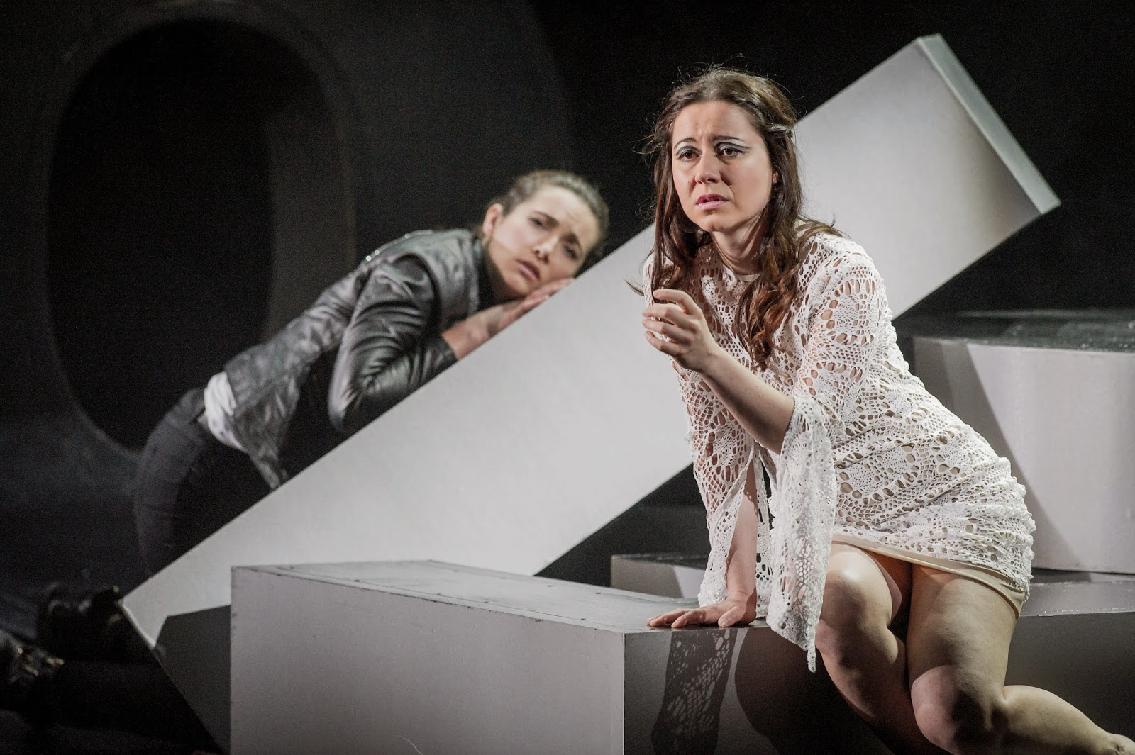 Daisy Brown and Barbara Bargnesi in Gluck's Orfeo at Buxton Festival - photo Robert Workman