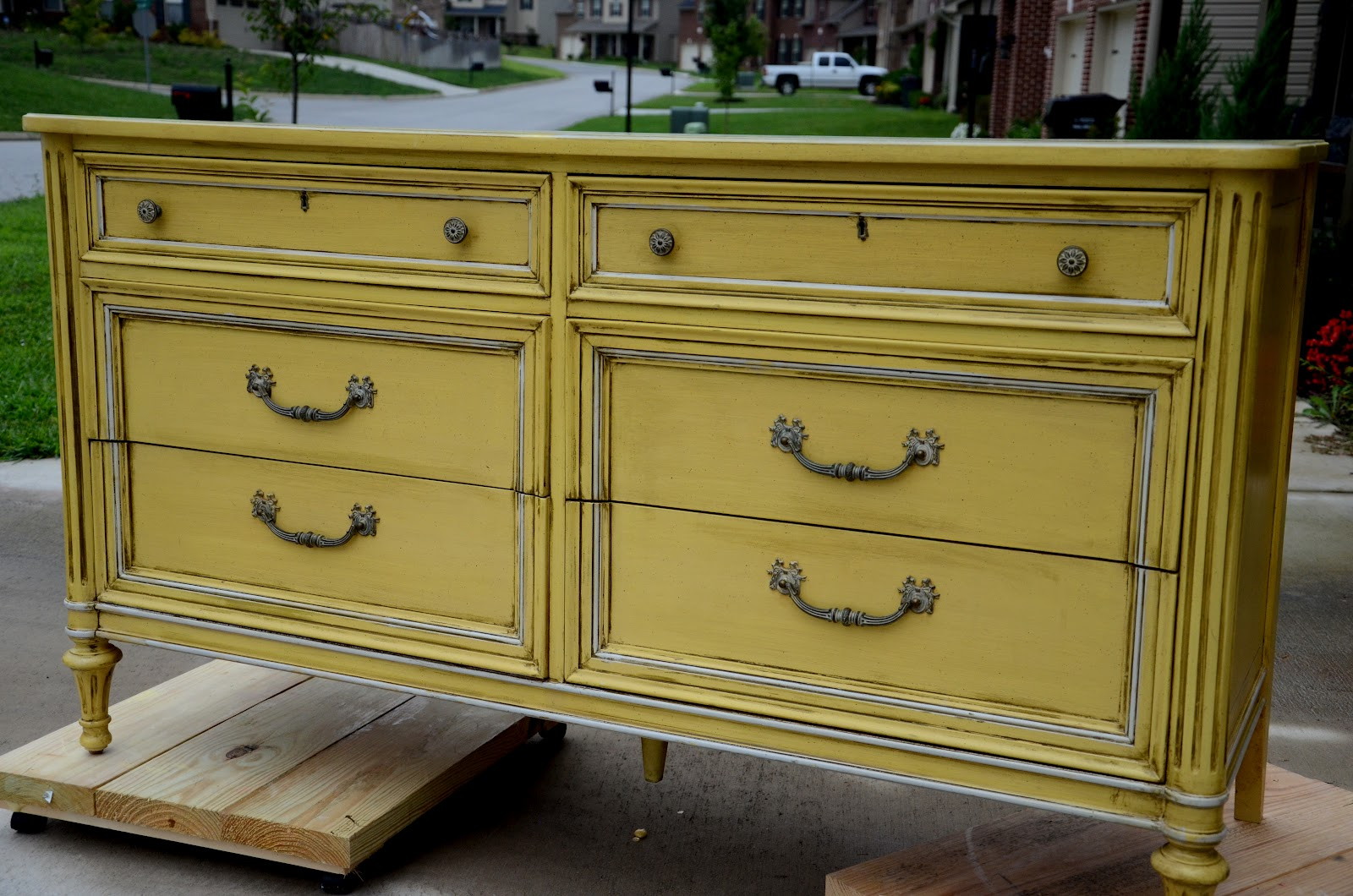 yellow painted dresser the painted perch