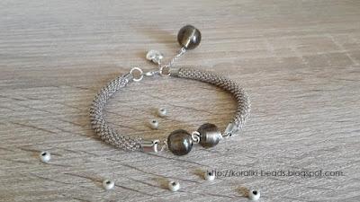 Crochet string bracelet - Venetian glass beads