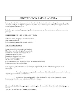 PROTECCION PARA LA VISTA