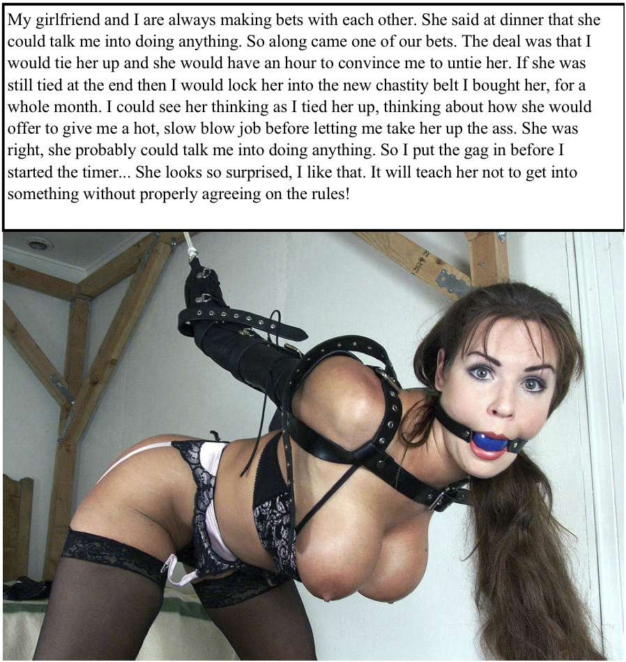 With you women chastity bondage caption think