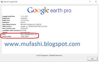 google earth pro password
